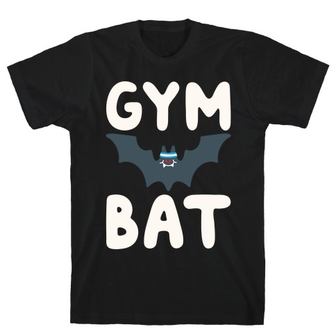 Gym Bat White Print T-Shirt