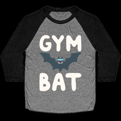 Gym Bat White Print Baseball Tee
