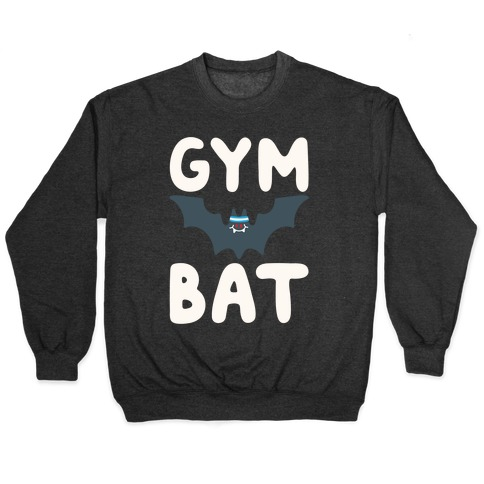 Gym Bat White Print Pullover