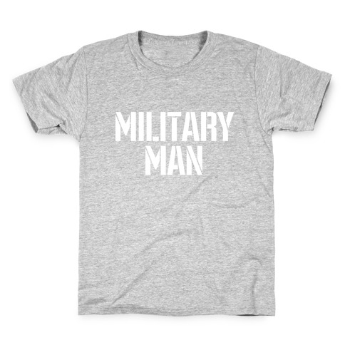 Military Man Kids T-Shirt