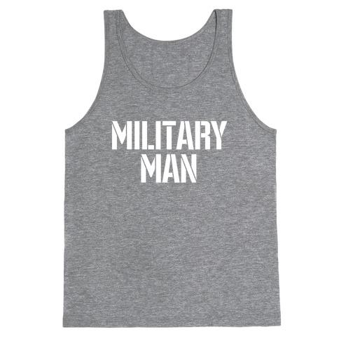 Military Man Tank Top