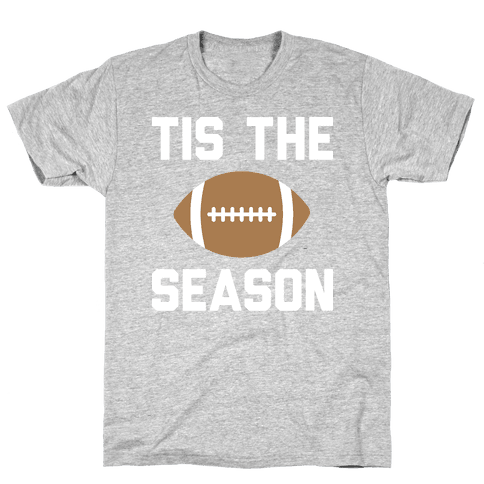Tis The Football Season (White) Mens T-Shirt