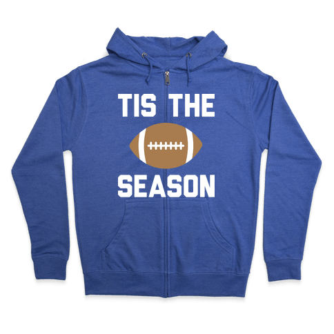 Tis The Football Season (White) Zip Hoodie