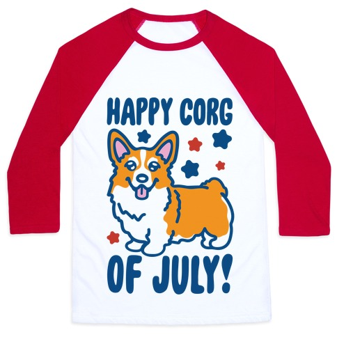 Happy Corg Of July Parody Baseball Tee