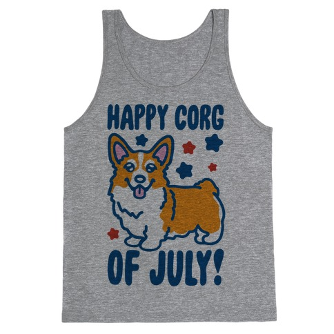 Happy Corg Of July Parody Tank Top