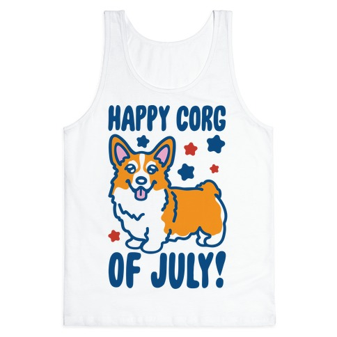 Happy Corg Of July Parody Tank Top