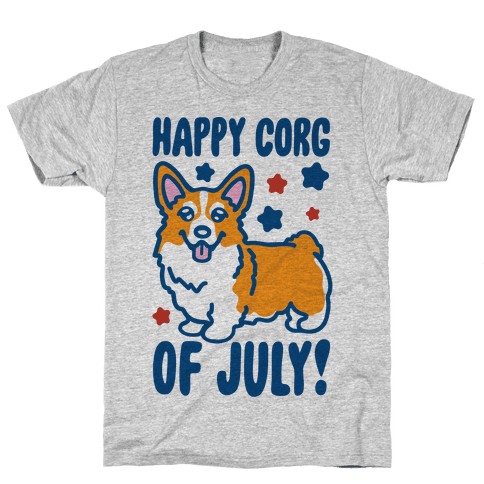 Happy Corg Of July Parody Mens/Unisex T-Shirt