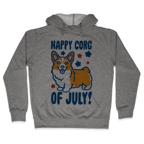 Happy Corg Of July Parody Hooded Sweatshirt