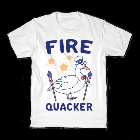 Fire Quacker  Kids T-Shirt
