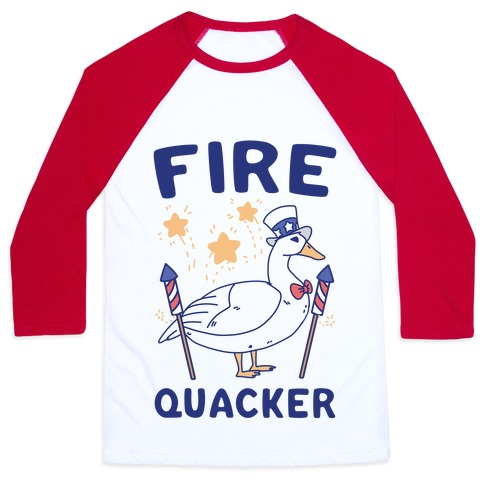 Fire Quacker  Baseball Tee