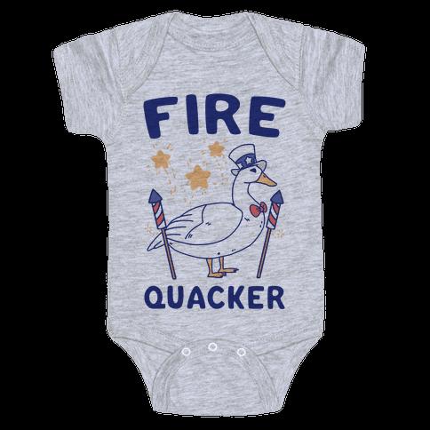 Fire Quacker  Baby Onesy