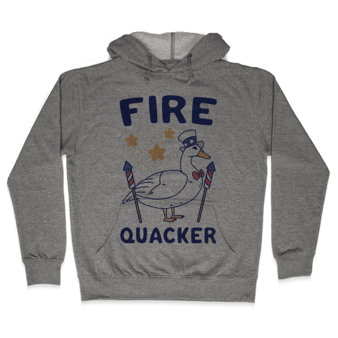 Fire Quacker  Hooded Sweatshirt