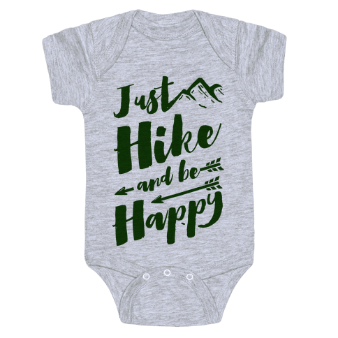 Just Hike and Be Happy Baby Onesy