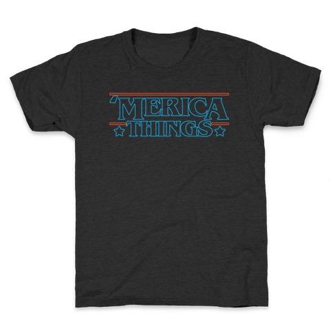 'Merica Things Parody White Print Kids T-Shirt