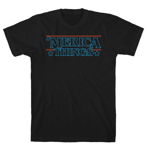 'Merica Things Parody White Print Mens/Unisex T-Shirt