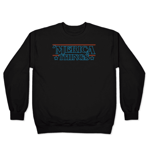 'Merica Things Parody White Print Pullover