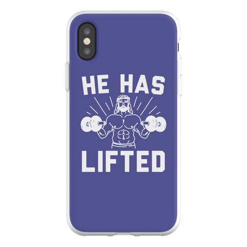 He Has Lifted Phone Flexi-Case