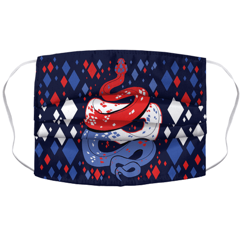 USA Red White And Blue Snake Accordion Face Mask