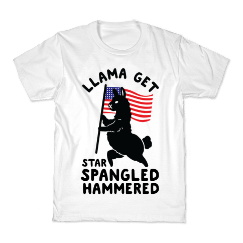 Llama Get Star Spangled Hammered Kids T-Shirt