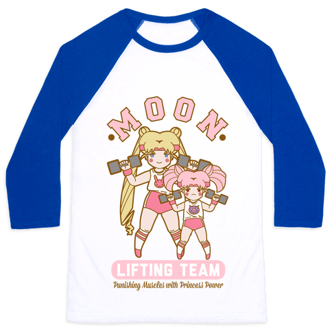 Moon Lifting Team Parody Baseball Tee