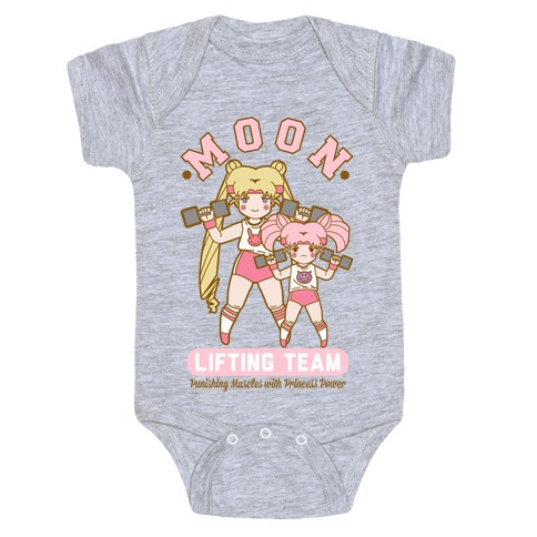 Moon Lifting Team Parody Baby Onesy