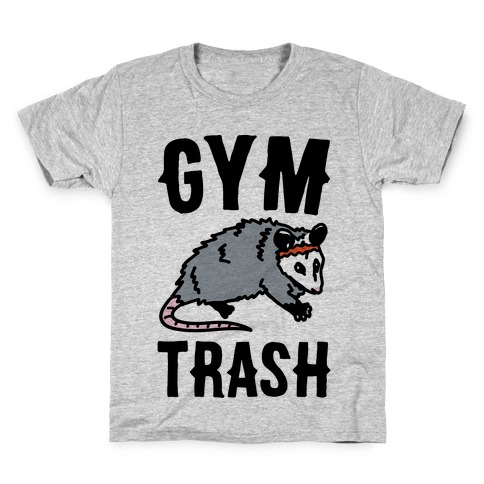 Gym Trash Opossum Kids T-Shirt
