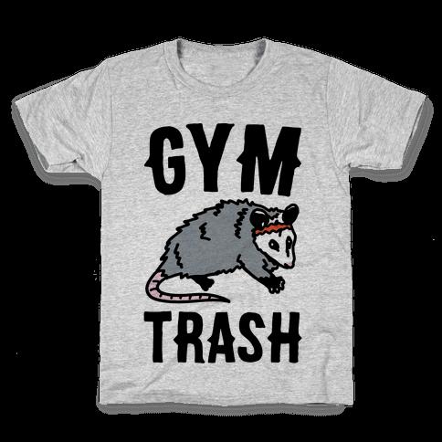 Gym Trash Opossum Kids T-Shirt