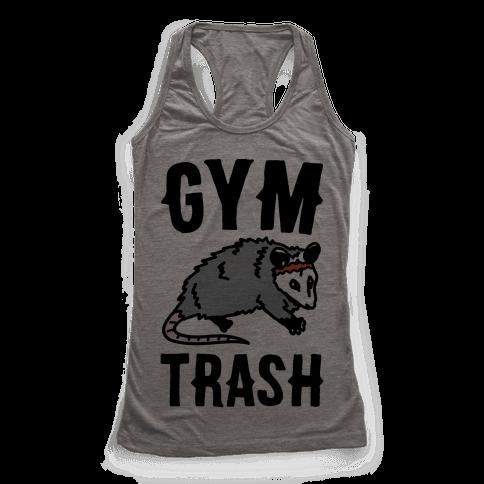 Gym Trash Opossum Racerback Tank Top
