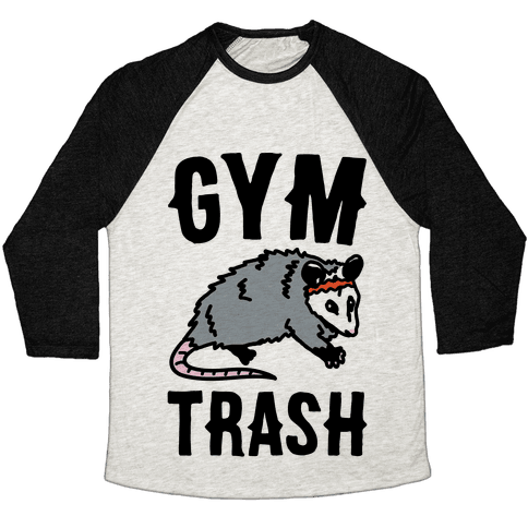 Gym Trash Opossum Baseball Tee