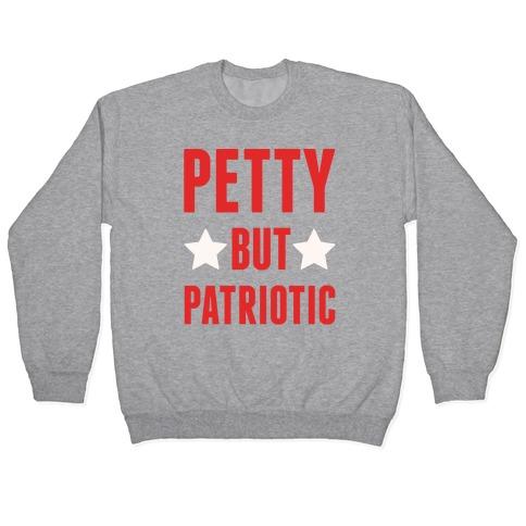 Petty But Patriotic White Print Pullover