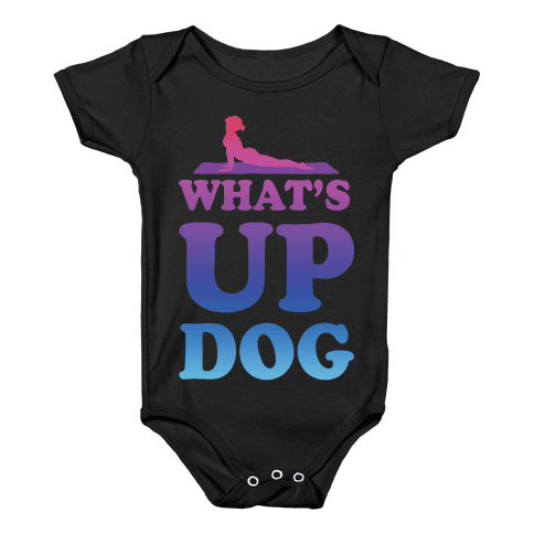 What's Up Dog Baby Onesy
