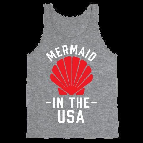 Mermaid In The USA Tank Top