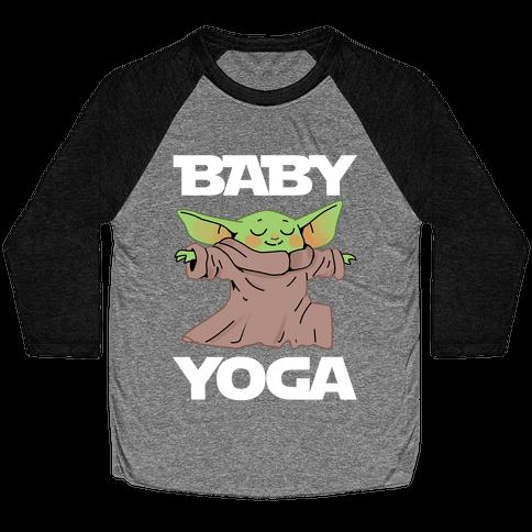 Baby Yoga Baseball Tee