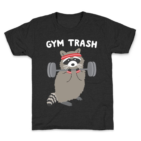 Gym Trash Raccoon Kids T-Shirt
