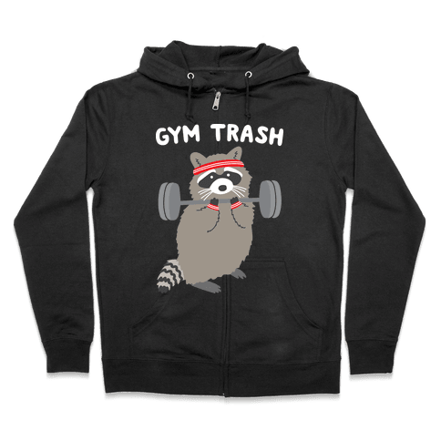Gym Trash Raccoon Zip Hoodie