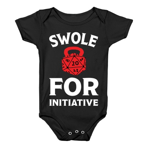 Swole For Initiative D20 Baby Onesy