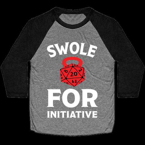 Swole For Initiative D20 Baseball Tee