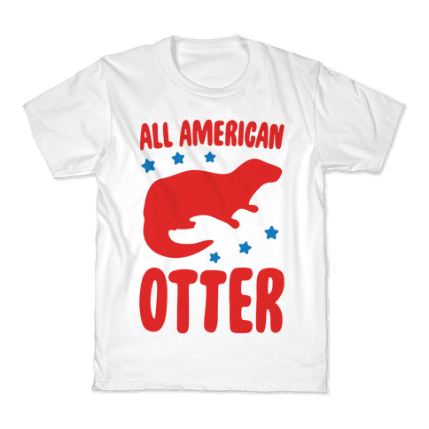 All American Otter  Kids T-Shirt