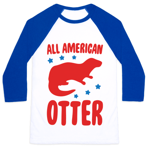 All American Otter  Baseball Tee