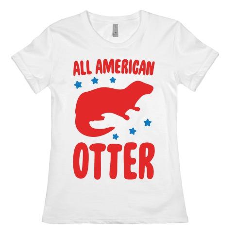 All American Otter Womens T-Shirt