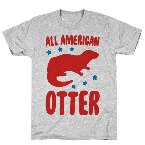 All American Otter Mens/Unisex T-Shirt