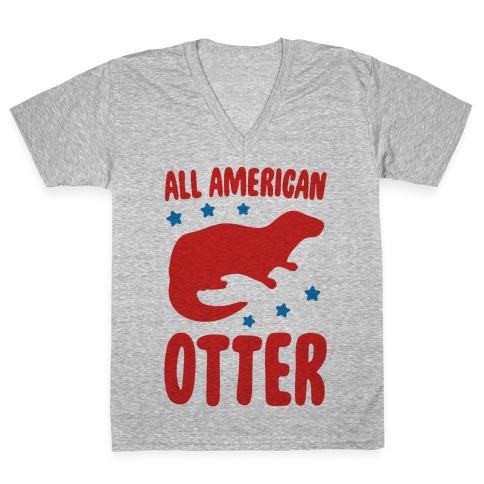 All American Otter V-Neck Tee Shirt