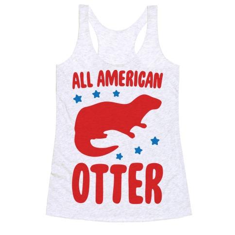 All American Otter Racerback Tank Top