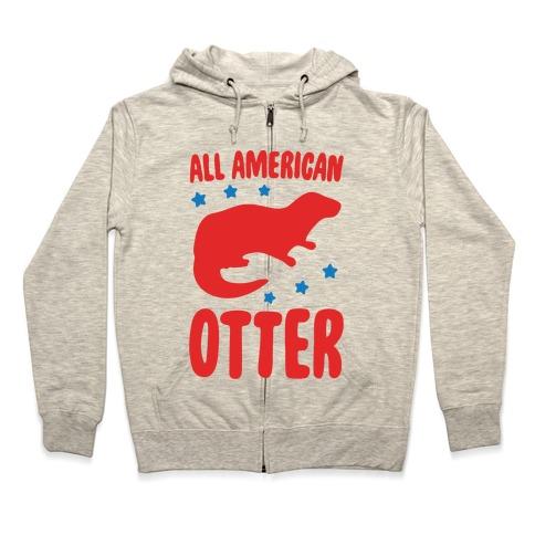 All American Otter Zip Hoodie