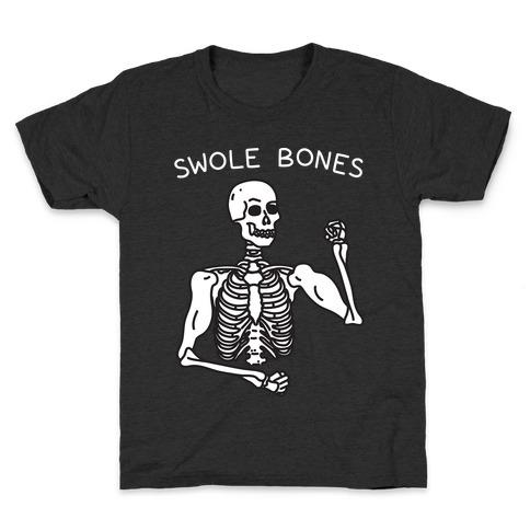 Swole Bones Skeleton Kids T-Shirt
