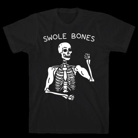 Swole Bones Skeleton Mens T-Shirt