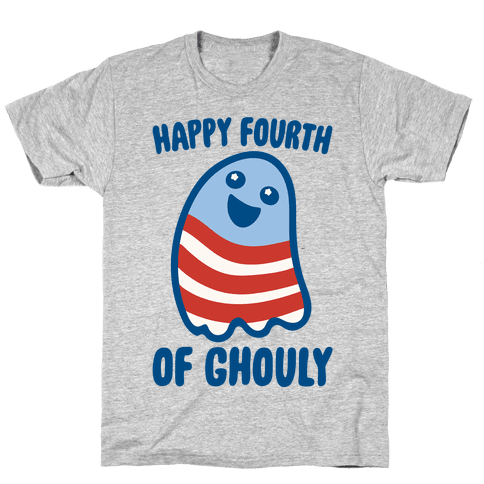 Happy Fourth of Ghouly  Mens/Unisex T-Shirt