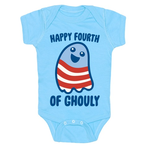 Happy Fourth of Ghouly  Baby One-Piece