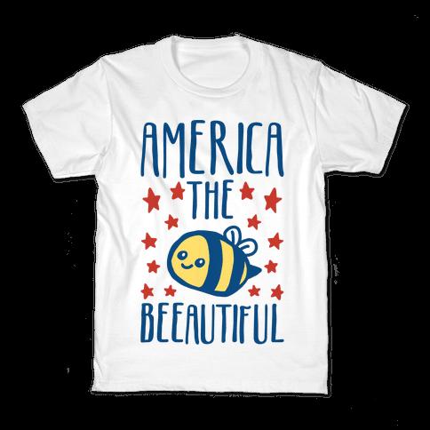 America The Beeautiful Bumble Bee 'Merica Parody Kids T-Shirt