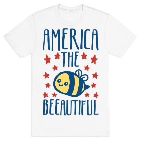 America The Beeautiful Bumble Bee 'Merica Parody T-Shirt
